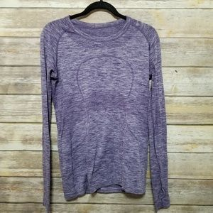 Lululemon Purple Swiftly Long Sleeve Shirt 10